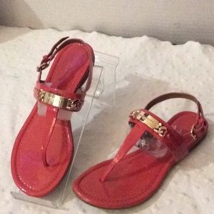 Coach Catherine coral thong slingback sandals # 7B